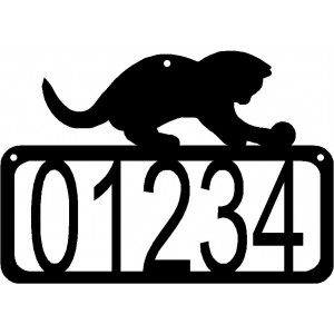 Cat #01 House Address Sign