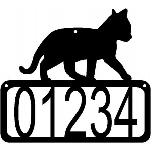 Cat #12 House Address Sign