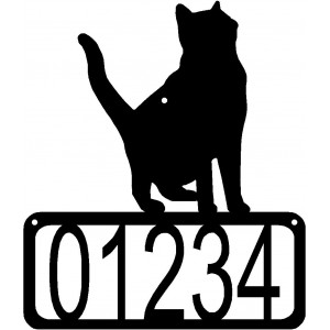 Cat #13 House Address Sign