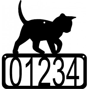 Cat #14 House Address Sign