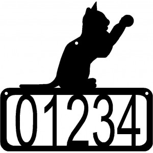 Cat #15 House Address Sign