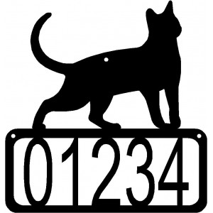 Cat #17 House Address Sign