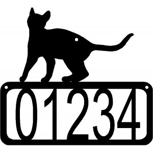 Cat #18 House Address Sign