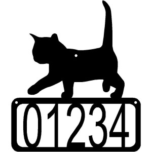 Cat #02 House Address Sign