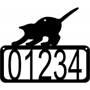 Cat #20 House Address Sign