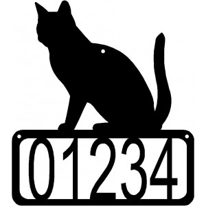 Cat #03 House Address Sign