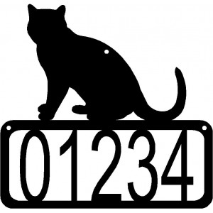 Cat #08 House Address Sign