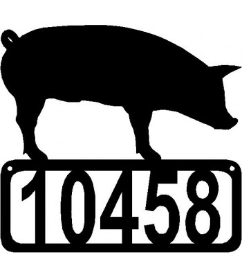 Pig Standing #02 Personalized Address Sign