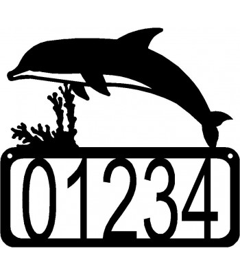 Dolphin House Address Sign