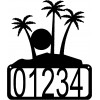 Tropical Sunset House Address Sign