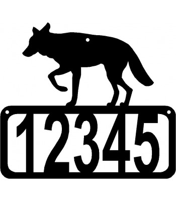 Coyote House Address Sign