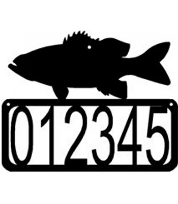 Bass Fish House Address Sign