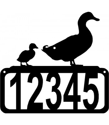 Duck & Duckling House Address Sign