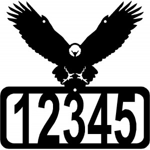 Eagle in Flight House Address Sign
