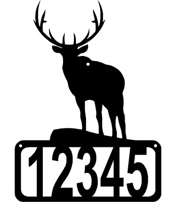 Elk Overlook House Address Sign