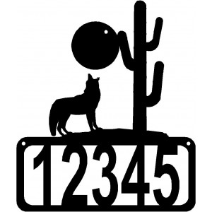 Howling Wolf/ Coyote House Address Sign