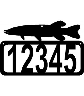 Northern Pike Fish House Address Sign