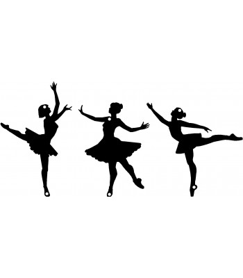 Dance Silhouette /  Wall Art -SET of 3 Ballet Dancers