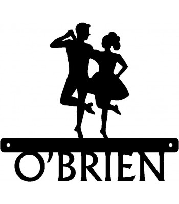 Irish Dance Name Sign - Couple