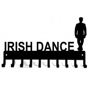 Irish Dance - Male #1- Personalized Medal Rack Organizer