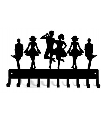 Irish Dance Medal Hanger - Troupe with Couple