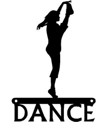 Dance Art Sign - High Kick Dancer