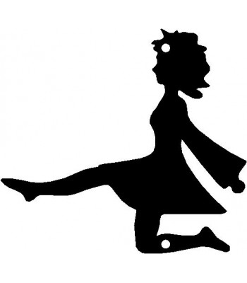 Dance Silhouette / Wall Art -  Irish Step Dancer 1