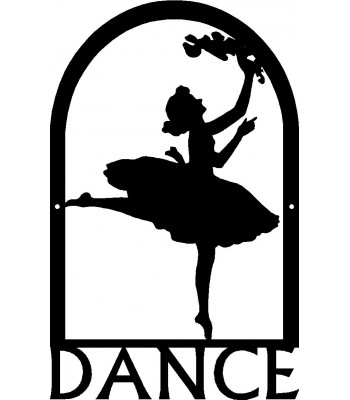Dance Art SIgn - Ballerina 1 Arched Frame Wall Art Sign