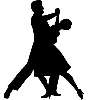 Dance Silhouette /  Wall Art - Ballroom Dance Couple
