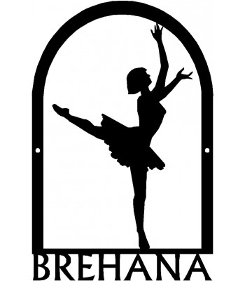 Dance Art Sign - Personalized Name Sign: Ballerina #1