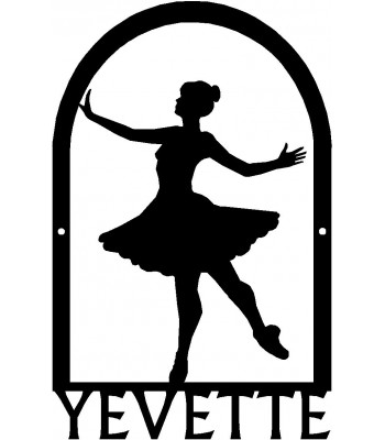 Dance Art Sign - Personalized Name Sign: Ballerina Dance #2