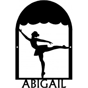 Dance Art Sign - Personalized Name Sign: Ballerina Dance #3