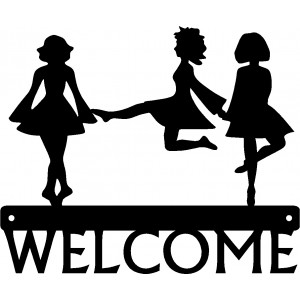 Irish Dance Trio Welcome Sign