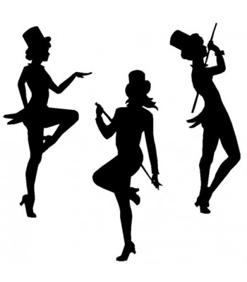 Dance Silhouette / Wall Art - Tap Dance Dancers Set of Three