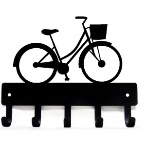 Bicycle with Basket- Key Rack