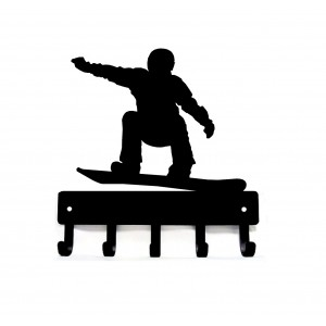 Snowboarder Key Hooks Holder
