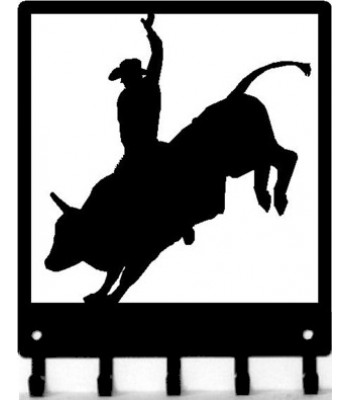 Bull Rider #01 - Western Cowboy Key Rack with hooks