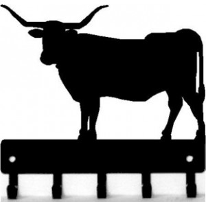 Longhorn Steer Bull -  Key Rack with hooks
