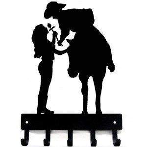 Romantic Couple - Cowboy & Cowgirl - Key Rack
