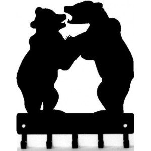 Bear Cubs Sparring - Key Rack