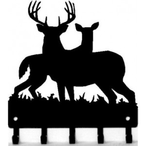 Deer Doe and Buck Family 1 - Key Rack