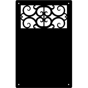 Decorative Scroll #DIW05 Wall Art Magnetic Memo (11x17)