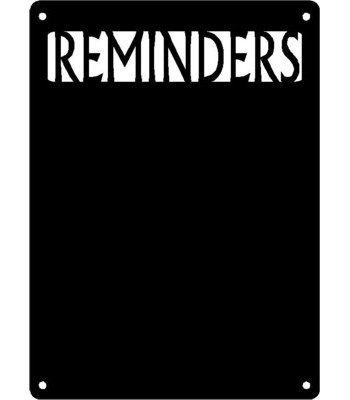 """REMINDERS"" Wall Art Magnetic Memo (11x17)"