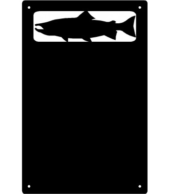 Salmon Fish Wall Art Magnetic Memo (11x17)
