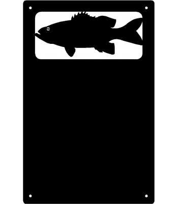 Bass FIsh Wall Art Magnetic Memo (11x17)