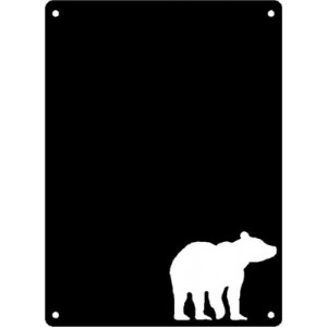 Bear #01 Rectangular Wall Art Magnetic Memo