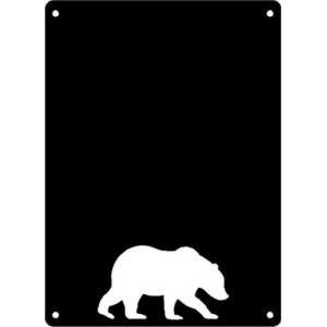Bear #02 Rectangular Wall Art Magnetic Memo