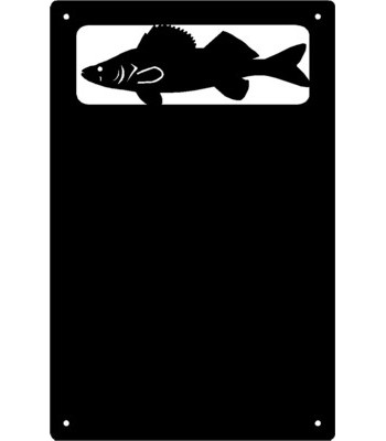 Walleye Fish Wall Art Magnetic Memo (11x17)