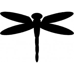 Dragonfly Silhouette Wall Art Magnetic Memo Board