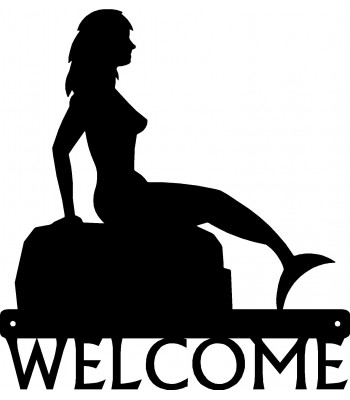 Mermaid #01 Welcome Sign